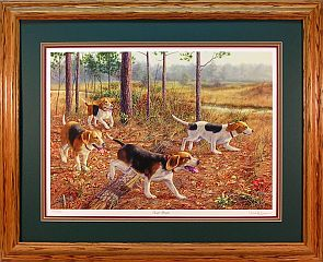 """Eager Beagles"" by wildlife artist Randy McGovern"